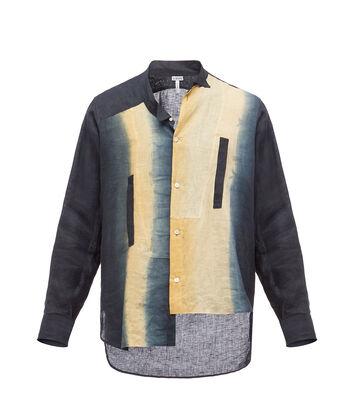 LOEWE Asymmetric Shirt Tie & Dye Azul/Beige front