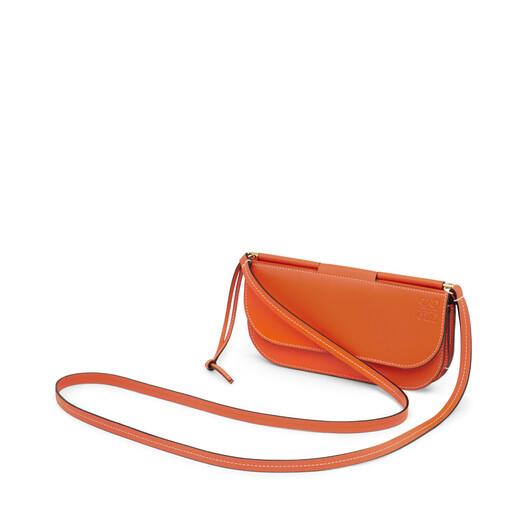 LOEWE Pochette Gate Naranja/Marron Rojizo front