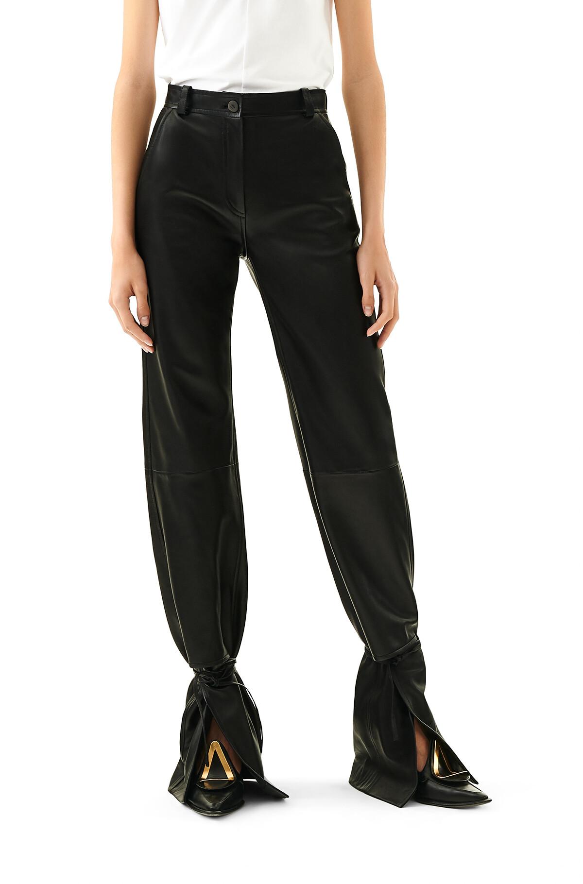 LOEWE Tie Cut Panel Trousers Black front