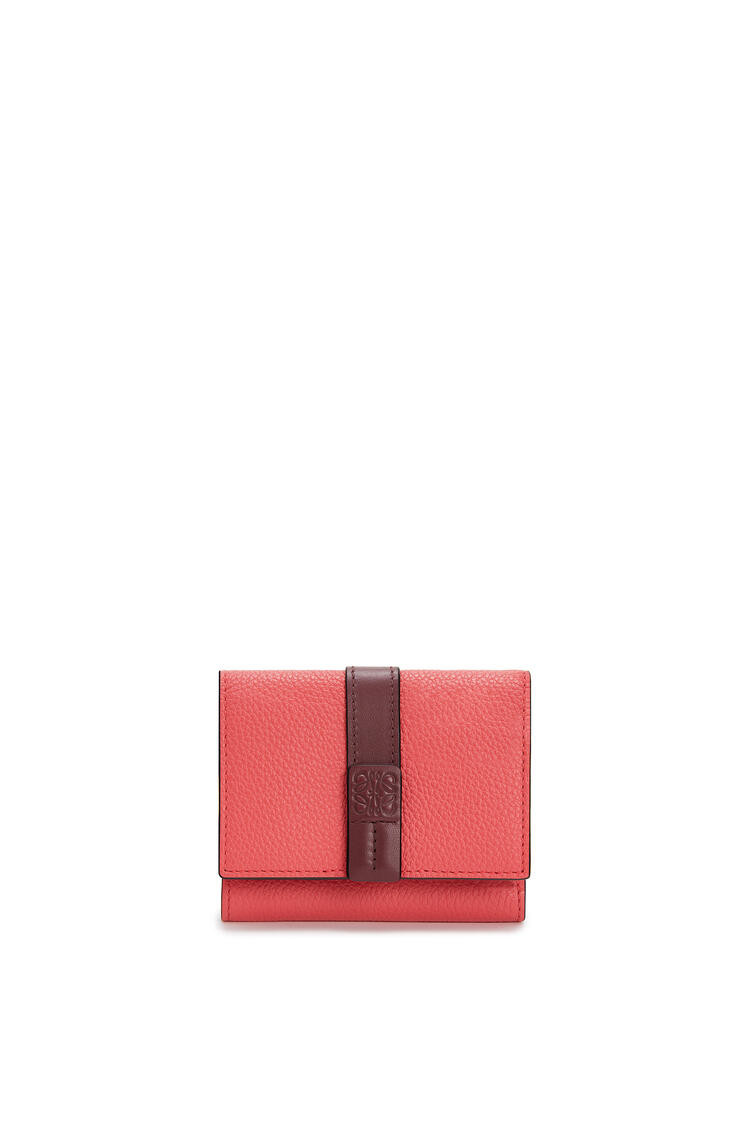 LOEWE Trifold wallet in soft grained calfskin Poppy Pink pdp_rd