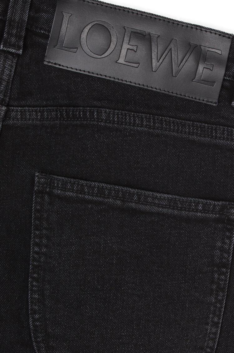 LOEWE Vaquero en algodón con cinco bolsillos Negro pdp_rd