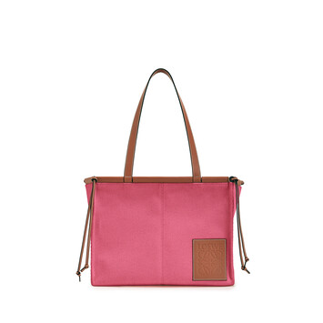LOEWE Cushion Tote Small Bag Raspberry front