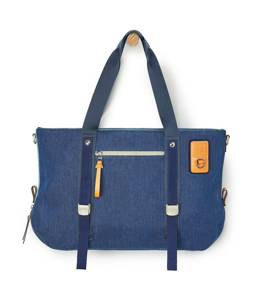 LOEWE Eye/Loewe/Nature Tote Bag Indigo front