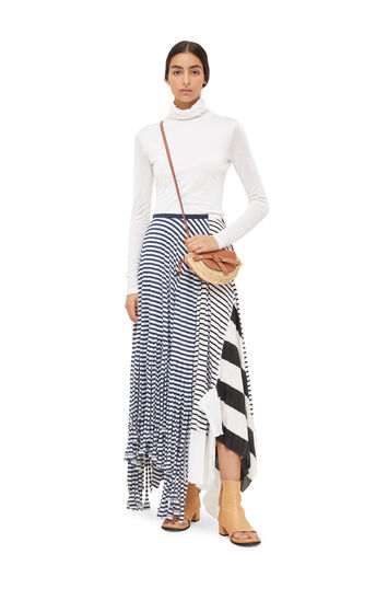 LOEWE Stripe Jersey Skirt Navy/White front