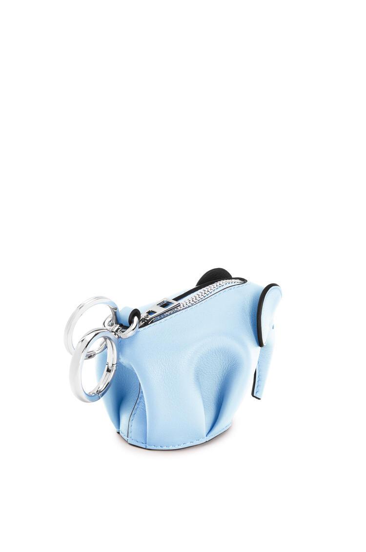 LOEWE Elephant charm in classic calfskin Light Blue pdp_rd