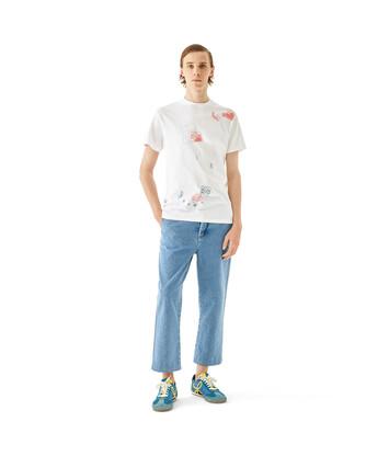 LOEWE T-Shirt Loewe Letters 白色 front