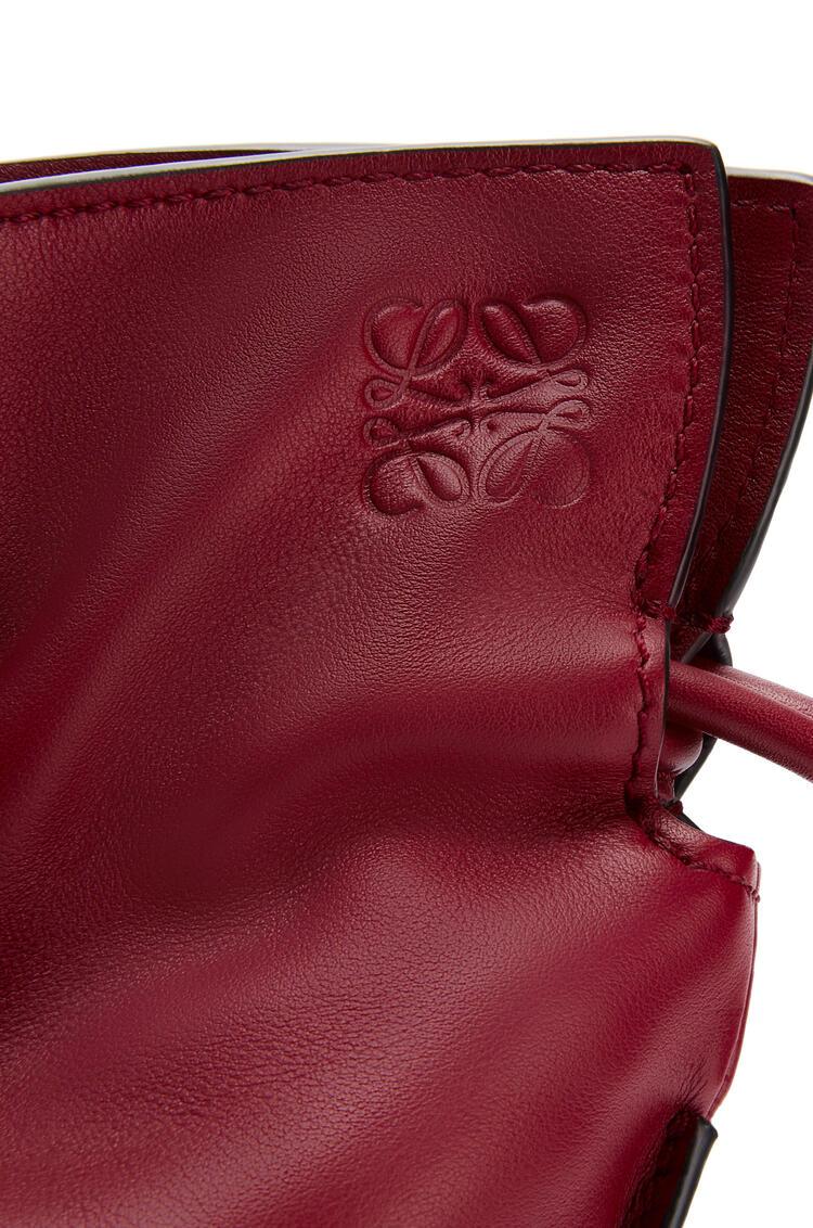 LOEWE Mini Flamenco clutch in nappa calfskin Deep Red pdp_rd