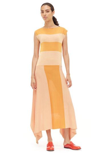 LOEWE Stripe Knit Dress Orange/White front