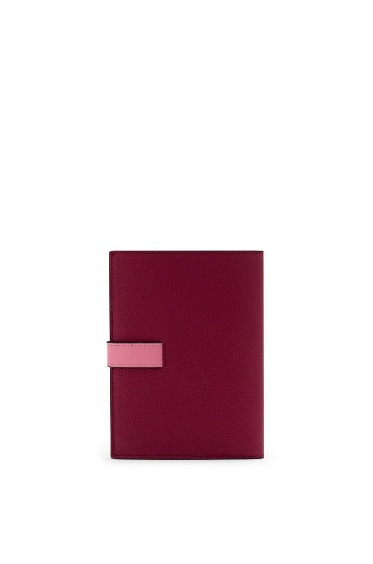 LOEWE Medium Vertical Wallet in soft grained calfskin Wild Rose/Raspberry pdp_rd