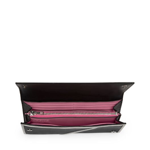LOEWE Puzzle Continental Wallet Rose 白色/黑色 all