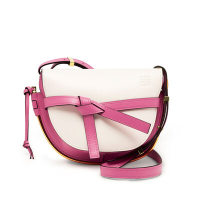 LOEWE Gate Frame Small Bag White/Wild Rose front