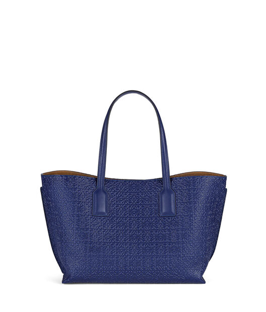 LOEWE T Shopper Bag Navy Blue all