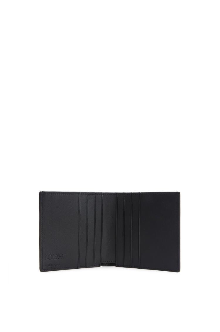 LOEWE Vertical Bifold wallet in grained calfskin Black pdp_rd