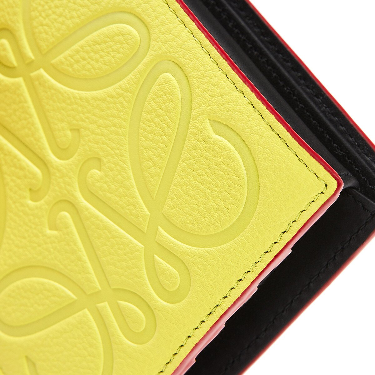 LOEWE Brand Bifold Coin Wallet Lime front