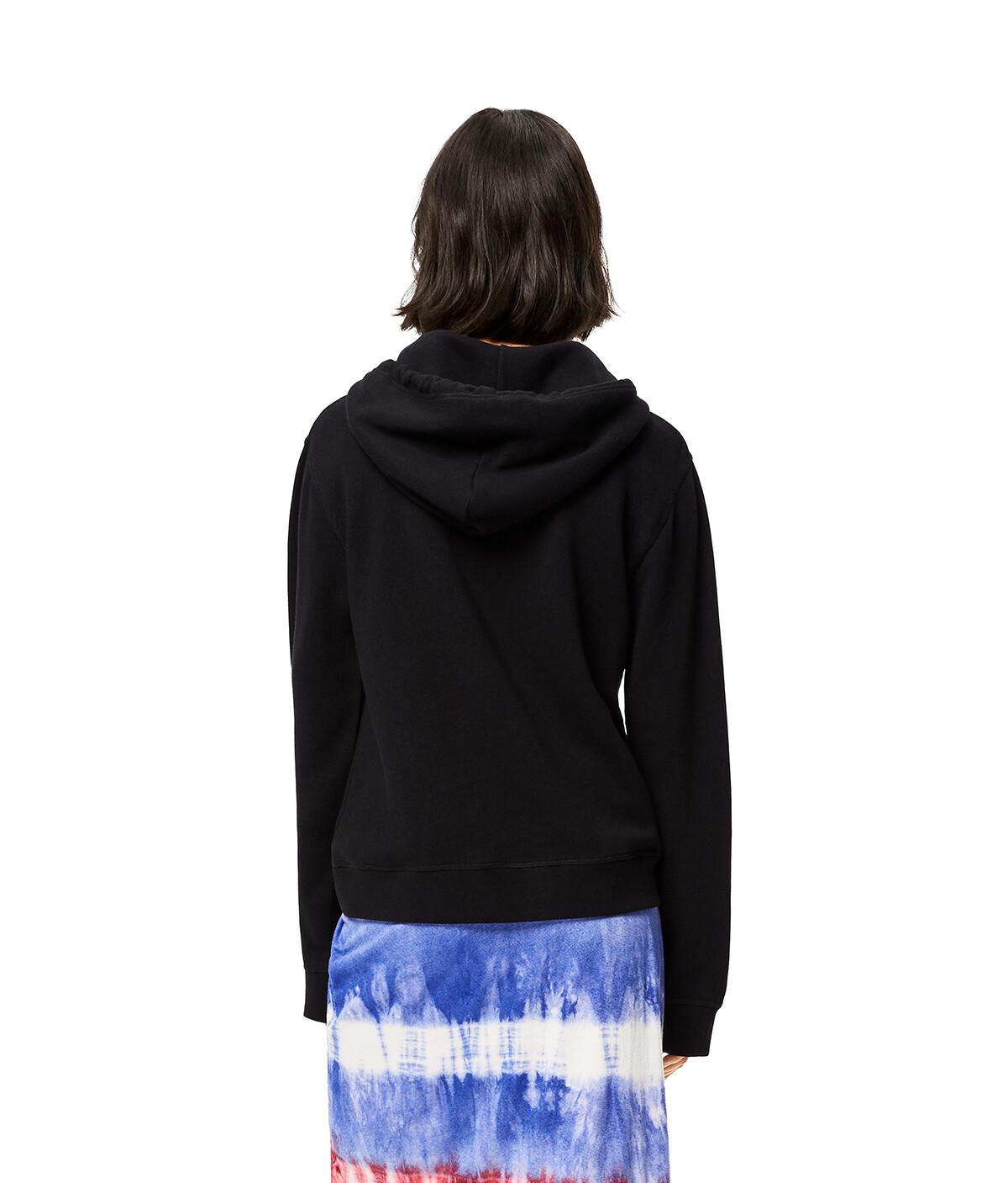 LOEWE Hoodie In Cotton Black front
