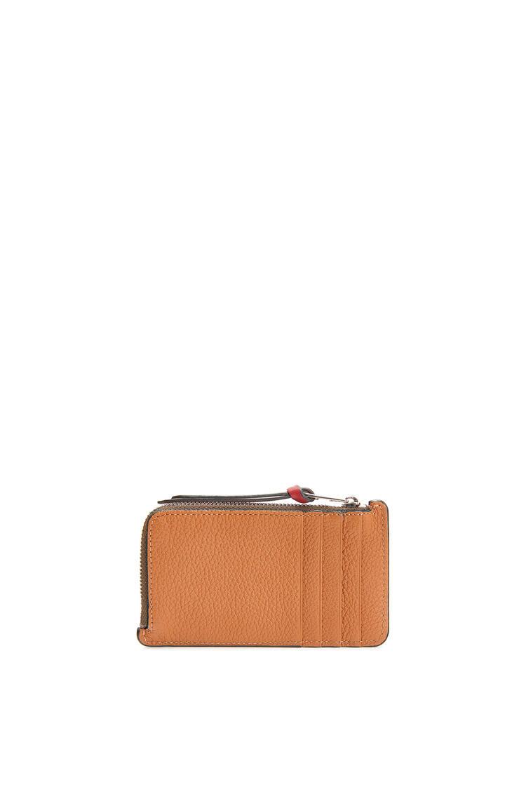 LOEWE Coin Cardholder In Soft Grained Calfskin Light Caramel/Pecan pdp_rd
