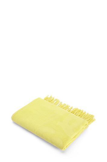 LOEWE 170Cm X 105Cm Loewe Towel With Tassels In Cotton Yellow Fluo front