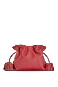 LOEWE Flamenco clutch bell tassel in nappa calfskin Deep Red/Dark Rust pdp_rd