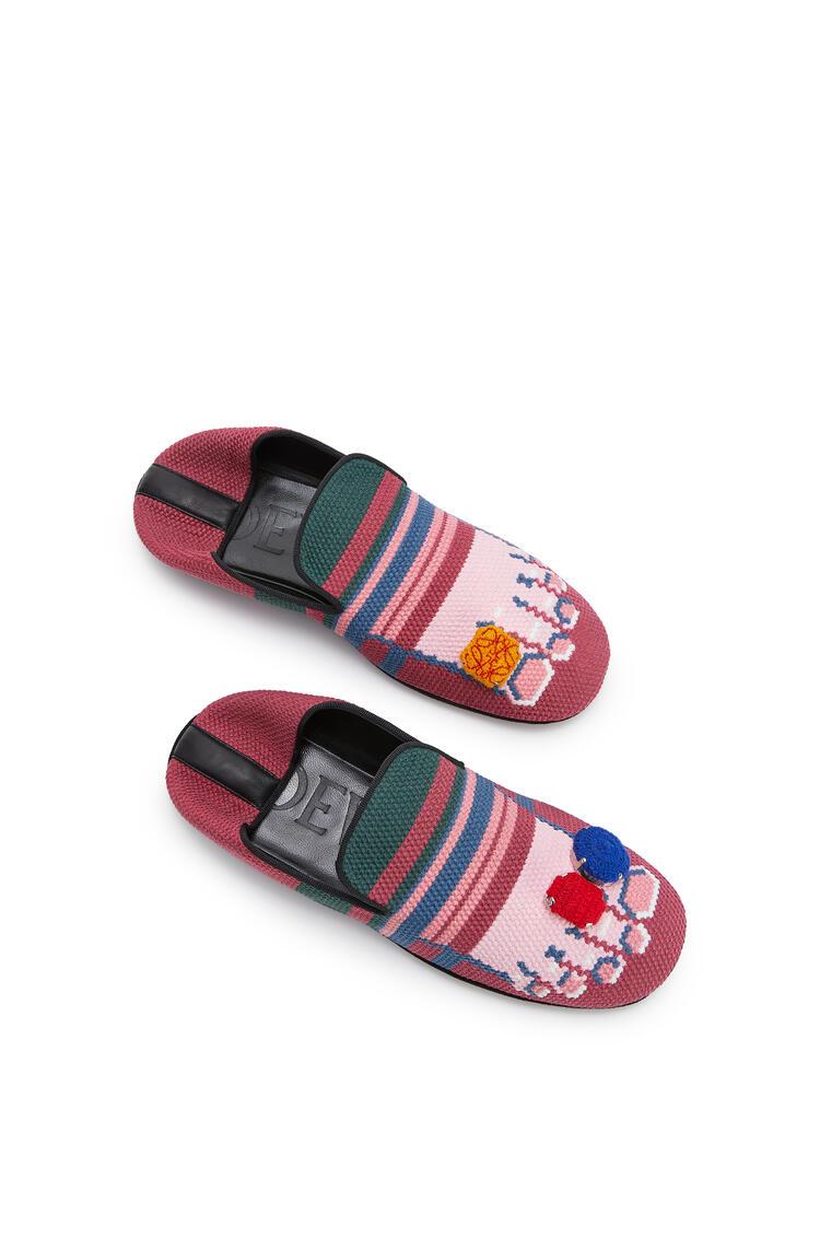 LOEWE Slipper en piel de ternera Fucsia/Rosa pdp_rd