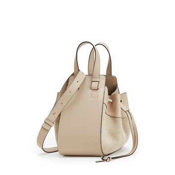 LOEWE Hammock Drawstring Small Bag Light Oat front