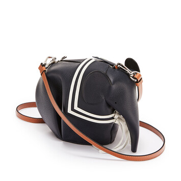 LOEWE Elephant Sailor Bag Deep Blue front