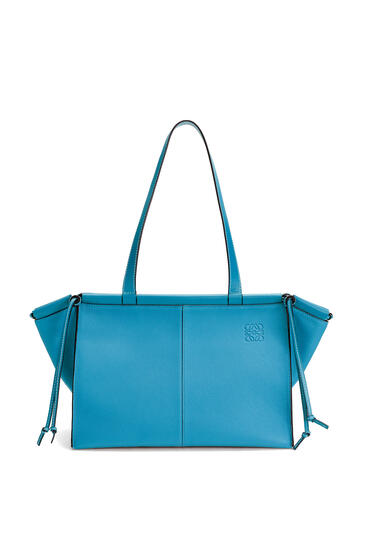LOEWE Small Cushion Tote bag in soft grained calfskin Dark Lagoon pdp_rd