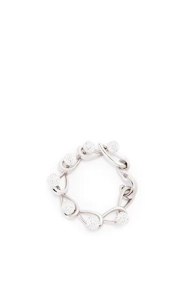 LOEWE Drop chain bracelet  in metal and crystals Palladium pdp_rd