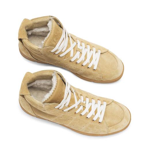LOEWE High Top Sneaker Shearling 金色 all