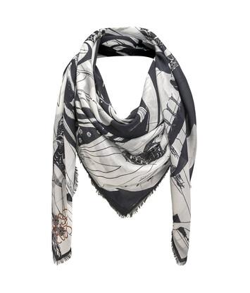 LOEWE 140X140 Scarf Salome 白色/黑色 front