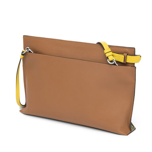 LOEWE T Pouch Holiday Bag Multicolor/Tan all