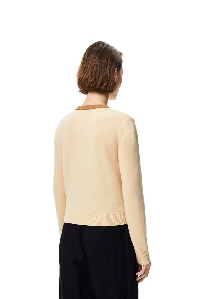 LOEWE Anagram embroidered cropped sweater in wool Pale Lemon pdp_rd