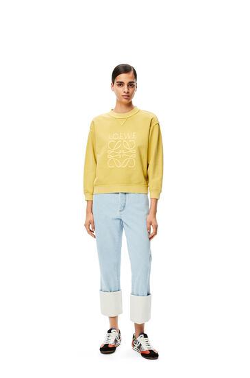 LOEWE Sudadera de algodón con el anagrama bordado Amarillo Claro pdp_rd