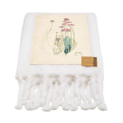 LOEWE 130X200 Blanket Botanical White front