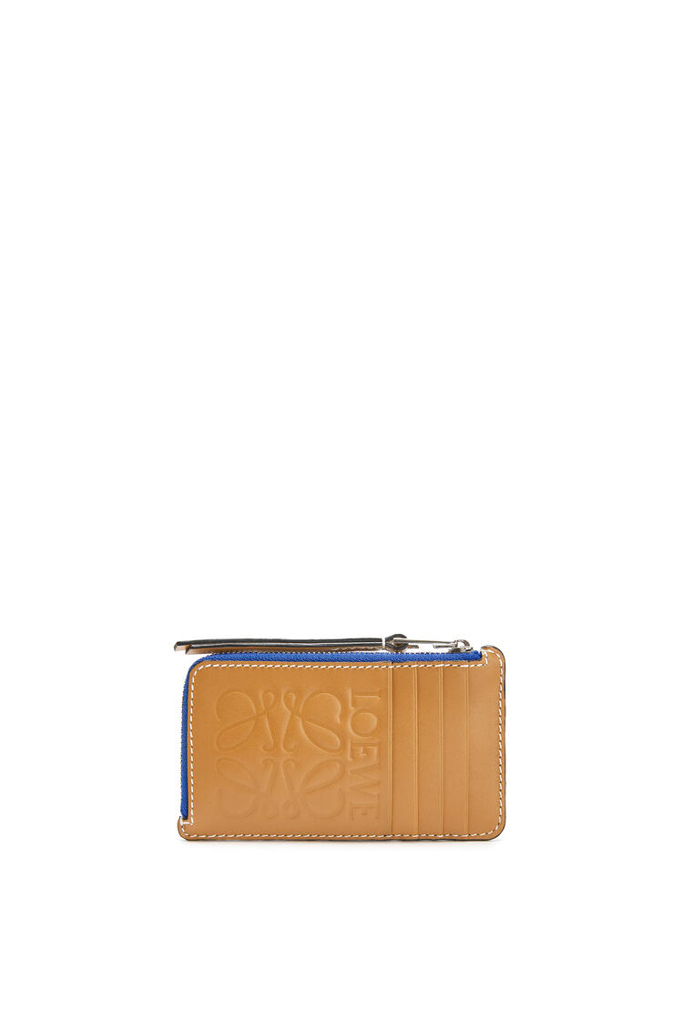 LOEWE Large Coin Cardholder In Calfskin Electric Blue/Orange pdp_rd