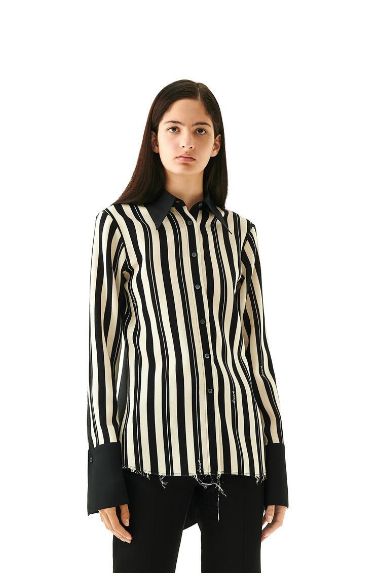 LOEWE Shirt In Striped Hemp Black/Off-white pdp_rd