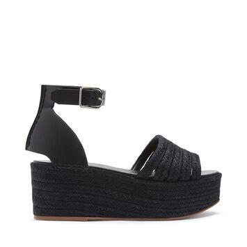 LOEWE Wedge Cord Sandal Black front