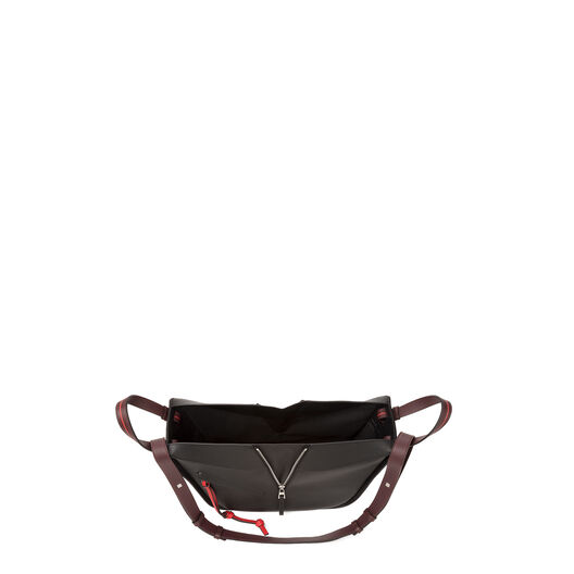 LOEWE Hammock Circles Small Bag Black/Red/Oxblood all