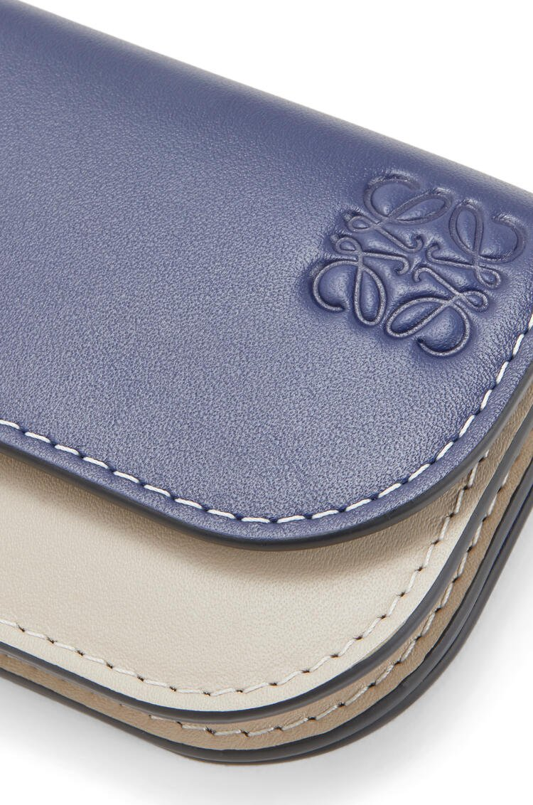LOEWE Gate Continental Wallet In Smooth Calfskin Marine/Light Oat pdp_rd