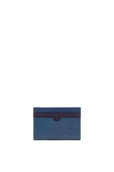 LOEWE Plain cardholder in soft calfskin Blue/Multicolor pdp_rd