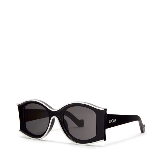 LOEWE Large Pula's Ibiza Sunglasses In Acetate Black/White front