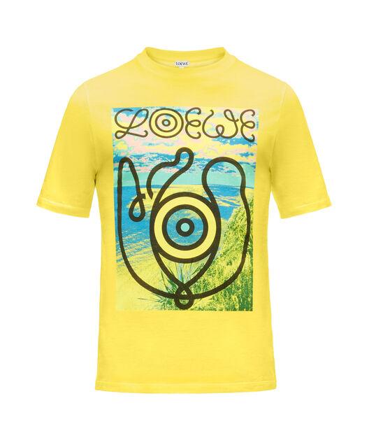 LOEWE T-Shirt Loewe Eye Amarillo front