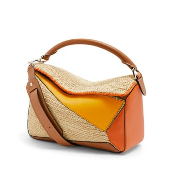 LOEWE Paula's Puzzle Bag Orange/Natural front