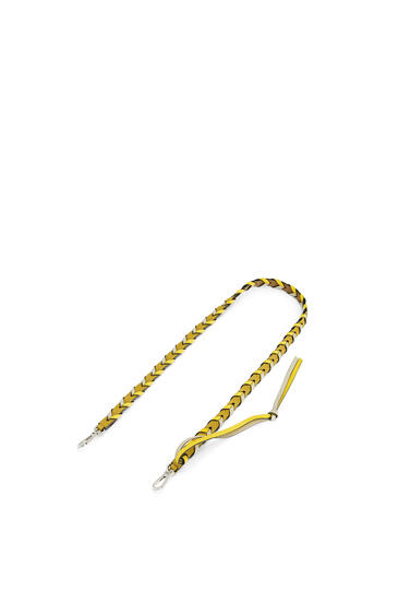 LOEWE Thin Braided strap in classic calfskin Ochre/Yellow pdp_rd