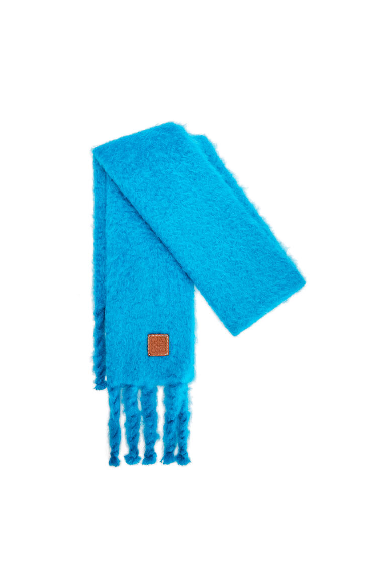 LOEWE Scarf in mohair and wool Caribbean Blue pdp_rd