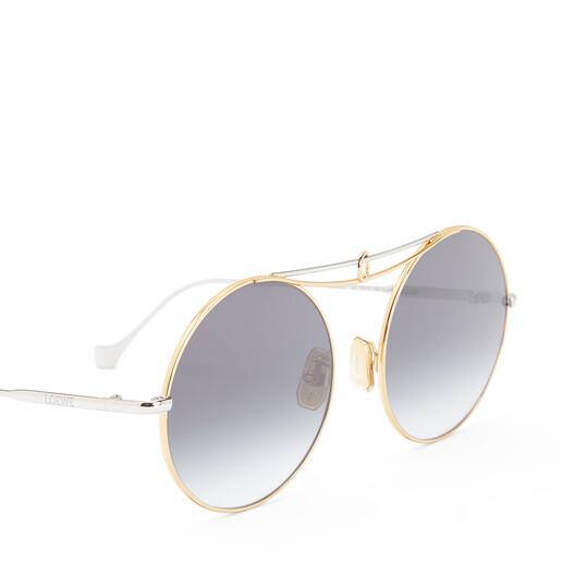 LOEWE Gafas Nudo Metal Redondas Rodio Brillo/Humo Degradado front