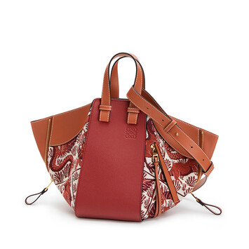 LOEWE Hammock Tiles Small Bag Red front