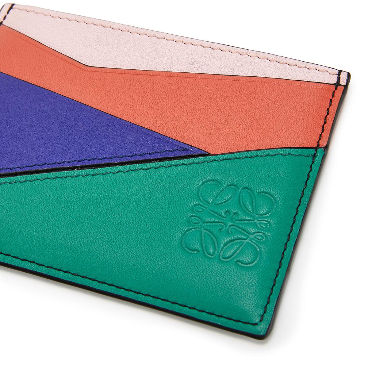 LOEWE Puzzle Plain Cardholder Emerald Green front