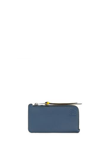 LOEWE レインボー コイン カードホルダー(ソフト カーフスキン) ブルー/マルチカラー pdp_rd