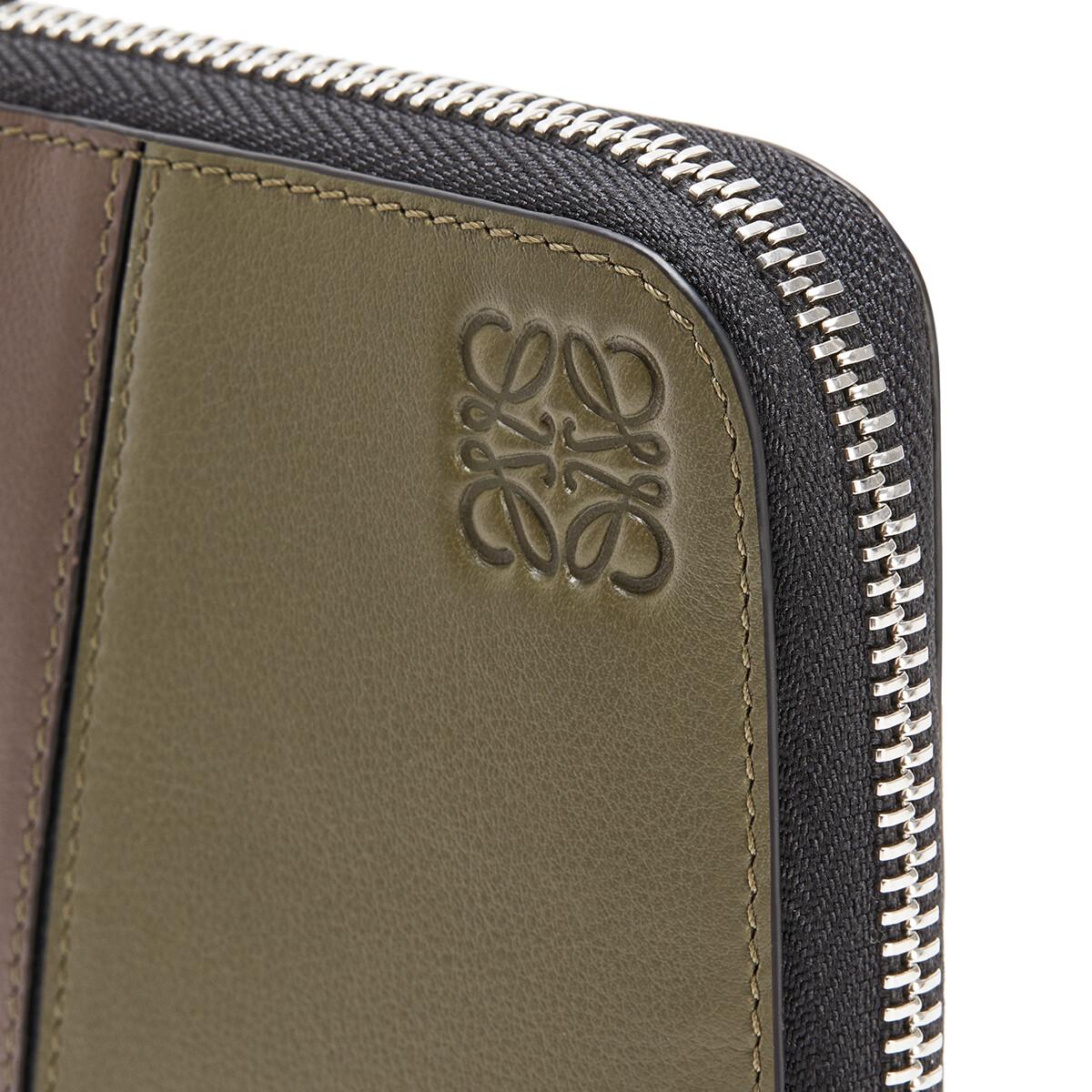 LOEWE Puzzle Open Wallet Khaki Green/Ochre front