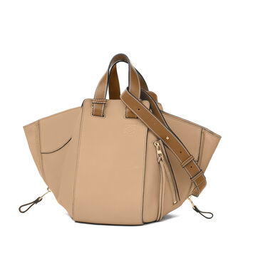 LOEWE Hammock Small Bag Sand/Mink Color front